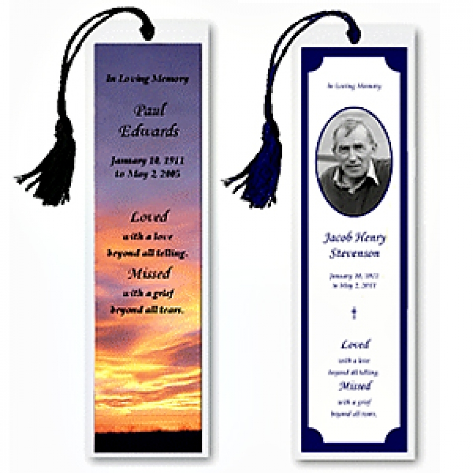 3 x 7 Bookmarks
