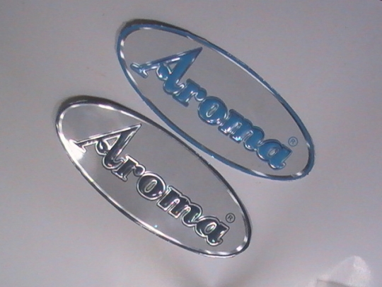 Oval metal stickers
