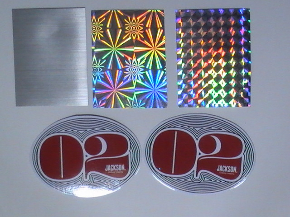 Oval Metallic Stickers