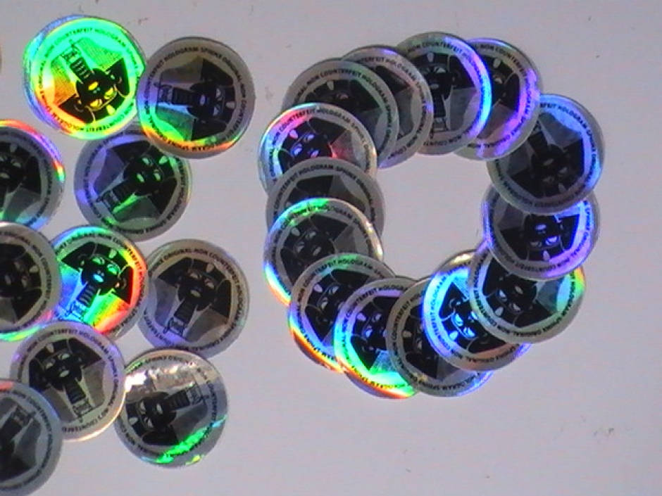Round Hologram Stickers