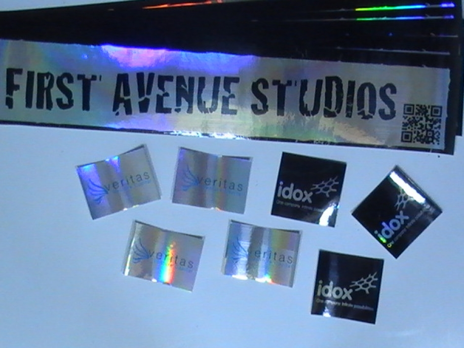 Square Foil Stickers