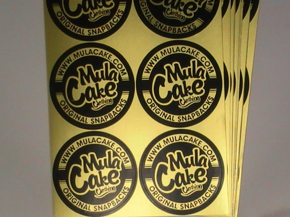 Yellow Color Metallic Stickers
