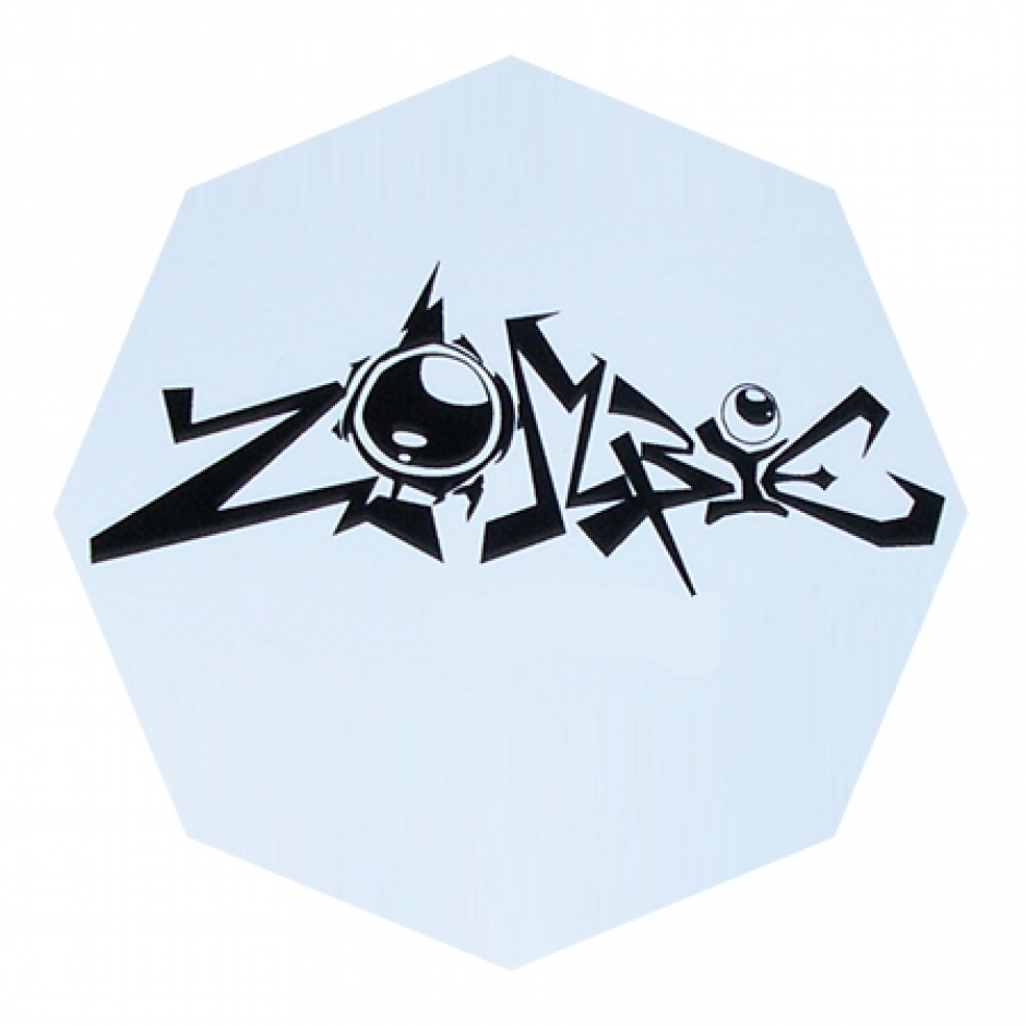 Octagon White Vinyl Sticker